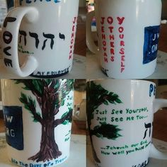 """""""@_harthur_ shares: """"Hello! For my personal worship night I made a coffee mug which i purchased at an arts & crafts store. It has some of the things that…"""""""
