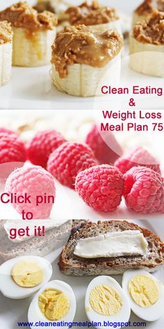 Click pin and get today's #cleaneating and #weightloss meal plan -- your free resource for #weightlosshelp!