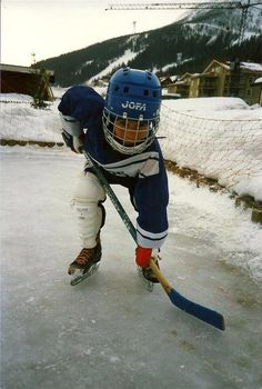 This is were it starts..studly little hockey player in the future?