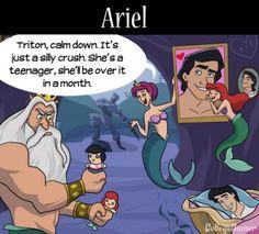 If Disney Princesses had Moms | Ariel