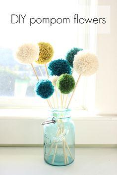 DIY pompom flowers