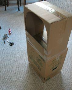 Puppentheater aus Kartons