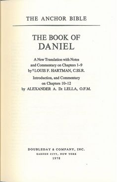 Anchor Daniel Title, Bible In My Language