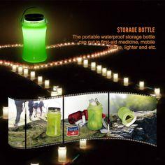 suaoki Solar Camping LED Lights Lantern Waterproof Storage Bottle Ultra Lightweight SP-01