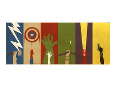The Art of Danny - I love this print, but check out the site for other awesome superhero stuff.