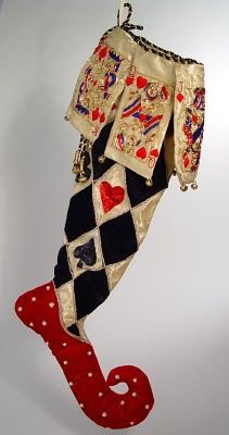 Katherines' Collection Las Vegas Harlequin Christmas Stocking.