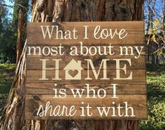 This adorable home sweet home sign measures 14 X 7.5. This is a made to order item so the exact sign pictured is not available, but one similar will