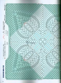Photo from album lady boutique series no 4170 2016 onIrish lace, crochet, crochet patterns, clothing and decorations for the house, crocheted. Crochet Doily Diagram, Crochet Chart, Crochet Squares, Crochet Motif, Crochet Wool, Love Crochet, Irish Crochet, Crochet Blouse, Japanese Crochet Patterns