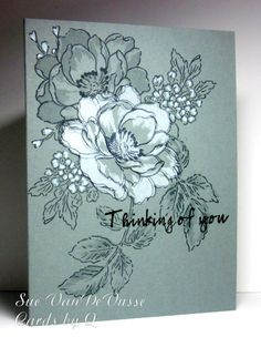 It seems like I have needed more sympathy cards lately than ever before! I tied in a couple of challenges on this one.   Simon Says Stamp  ...