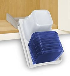 YouCopia StoraStack Food Container Storage Organizer, Cabinet Solution