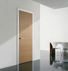 Interior doors wood simple elegant design of white door frame light wall