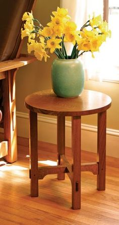 Arts & Crafts Side Table - A free woodwork project plan from Fine Woodworking Ma. - Arts & Crafts Side Table – A free woodwork project plan from Fine Woodworking Magazine - Woodworking Articles, Woodworking Box, Woodworking Furniture, Furniture Plans, Woodworking Projects Plans, Diy Furniture, Woodworking Equipment, Woodworking Magazine, Woodworking Supplies