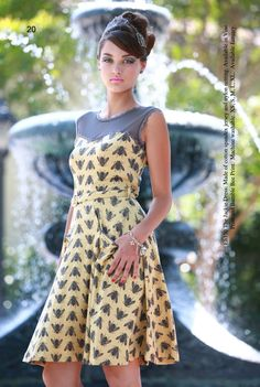 The Jackie Dress- Bumble Bee Print