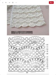 Baby Crochet Patterns Part 10 - Diy Crafts - Marecipe Crochet Scarf Diagram, Gilet Crochet, Crochet Skirt Pattern, Crochet Edging Patterns, Crochet Lace Edging, Crochet Chart, Baby Knitting Patterns, Baby Blanket Crochet, Crochet Baby