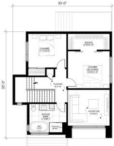 Plan de maison Ë_144   Leguë Architecture India Architecture, Arch Interior, Contemporary House Plans, Passive House, House Layouts, Planer, Minimalism, Home Goods, Floor Plans