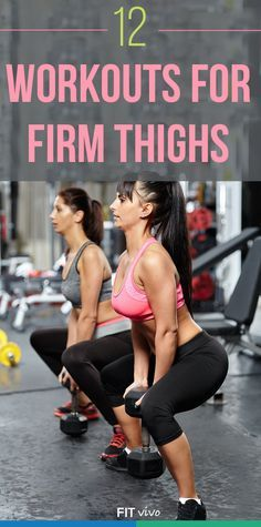 Thigh Workout for Women. Here are the Top 12 exercises and workouts to get those thinner and toned thighs. Work both the inner and outer thigh at home. This helps to lose the fat and cellulite so get back into those skinny jeans fast. The best workouts wi Fitness Motivation, Fitness Diet, Fitness Goals, Health Fitness, Workout Fitness, Fitness Plan, Exercise Motivation, Fitness Quotes, Yoga Fitness