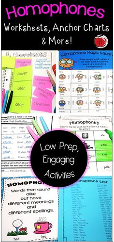 Everything you need to help your students learn about homophones. Low prep worksheets, interactive notebook pages, literacy centers, & more! Perfect for Grades 2-4. Created by TchrBrowne / Terri's Teaching Treasures