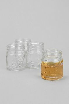 I had no idea this was a thing, but yes! Mason Jar Shot Glass - Set Of 4 $12