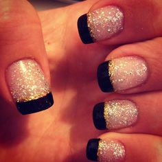 My New Years nails. Simple, yet flashy(: