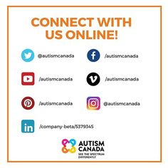 We are on 7 social media platforms. Stay up to date on Autism Canada's charitable initiatives events conference videos and news. Autism News, Tax Credits, Autism Resources, Friday Feeling, Fundraising Events, Aspergers, Research, Inspirational Quotes, Canada