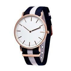 Watch Hub - Copenhagen / White & Blue Canvas Watch