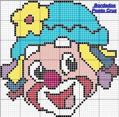 Arts and embroidery sun: Patati- Graphics Patatá Cross Stitch Baby, Cross Stitch Charts, Cross Stitch Patterns, C2c Crochet, Crochet Blanket Patterns, Cross Stitching, Cross Stitch Embroidery, Corner To Corner Crochet, Plastic Canvas Tissue Boxes