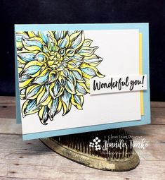 FMS326 by Jen Timko | Dahlia XL by Power Poppy, Zig Clean Color Pens