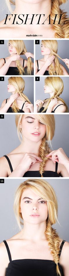 Hair How-To: The Fishtail Braid | MarieClaire.com