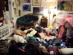 Finding Peace in Chaos - Messy Room - Busy intern/grad student Messy Bedroom, Bagless Vacuum Cleaner, Room Organization, My Room, Dorm, Room Decor, Cleaning, How To Plan, Design