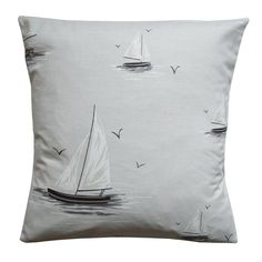 Sailboats Cushion - CoastalHome.co.uk: Coastal Living