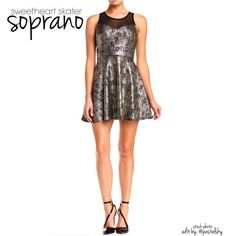 """SOPRANO sweetheart skater dress NEW in retail bag, never worn. great for a warm summer night out on the town!   size- medium (fits a small comfortably, medium fit as shown on model) length- 33"""" width- 14"""" at waist  please don't hesitate to ask questions. happy POSHing    use offer feature to negotiate price on single item  i do not take any transactions off poshmark, so please do not ask. Soprano Dresses Mini"""