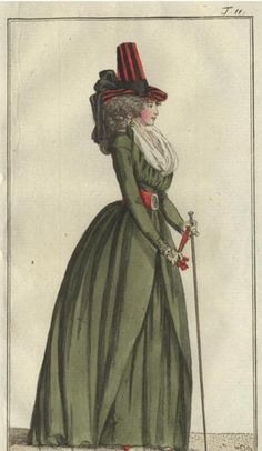 Walking dress, Journal des Luxus, April 1792.