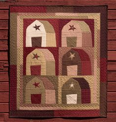 Barn Stars quilt from my NEW Udder-ly Crazy book!