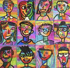 the Art Room: Fourth Grade Fauves! (Cassie Stephens) In the Art Room: Fourth Grade Fauves!In the Art Room: Fourth Grade Fauves! 5th Grade Art, Fourth Grade, Self Portrait Art, Art And Craft Videos, Oil Pastel Art, Art Curriculum, Art Lessons Elementary, Elementary Art Rooms, Art Education Lessons