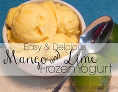 Easy and Delicious Mango Lime Frozen Yogurt