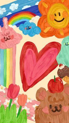 Hippie Wallpaper, Cute Pastel Wallpaper, Soft Wallpaper, Cute Patterns Wallpaper, Kawaii Wallpaper, Cute Wallpaper Backgrounds, Wallpaper Iphone Cute, Pretty Wallpapers, Aesthetic Iphone Wallpaper