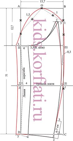 Patrón mangas de doble costura - Dibujo