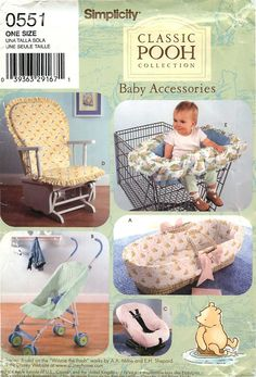 """Simplicity 0551 Sewing & Craft  Pattern for Baby Accessories""""Classic Pooh Collection"""" by CarlasHope on Etsy"""