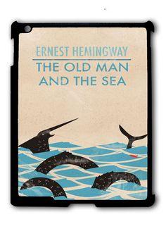The Old Man And The Sea By Ernest Hemingway Classic Book Ipad Case, Available For Ipad 2, Ipad 3, Ipad 4 , Ipad Mini And Ipad Air