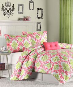 Coral Isobel Comforter Set - prefect for a girl's bedroom.