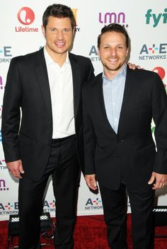 Nick Lachey with his younger Drew Lachey