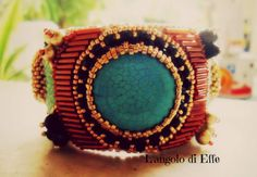 l'angolo di Effe: embroidery beads bracciale