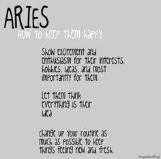 How to make an aries man happy