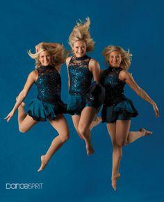 Rachel Saunders, Rachel Fellows and Kim Saunders of the University of Minnesota Dance Team (photo by Steve Lucas)