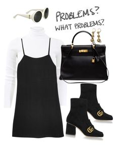"""Untitled #651"" by chandele ❤ liked on Polyvore featuring Michael Kors, Reformation, Gucci, Yves Saint Laurent and Hermès"