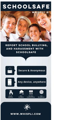 Whispli SchoolSafe help students to report bullying and any type of harassment. It is a secure and anonymous app, from any device anywhere. Bullying, Communication, Students, Management, Type, Communication Illustrations, Bullying Activities, Persecution