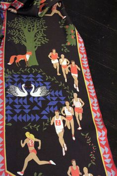 Long Distance Running Scarf  Forest scene with by redbricknorth, $50.00