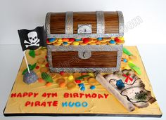 Celebrate with Cake!: Pirate Treasure Chest Cake