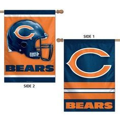 "CHICAGO BEARS LOGO 28""X40"" DOUBLE SIDED BANNER FLAG BRAND NEW WINCRAFT"