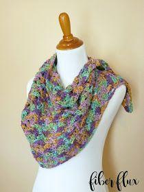 Fiber Flux: Free Crochet Pattern...Watercolor Landscape Shawlette!